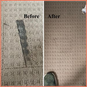 carpet repairs before after
